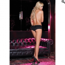 Leg Avenue Europe Cheeky Boyshorts Black Pantie - S/M