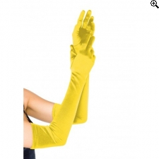 Leg Avenue Europe Extra Long Satin Gloves Yellow