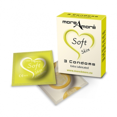 Image of moreamore - condoom soft skin 3 st.