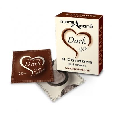 Image of moreamore - condoom dark skin 3 st.