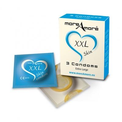 Image of moreamore - condoom xxl skin 3 st.