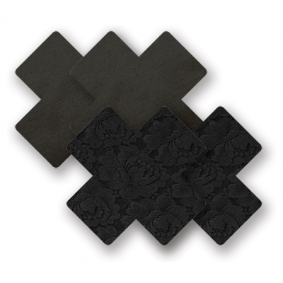 Image of nippies - basic zwart kruis