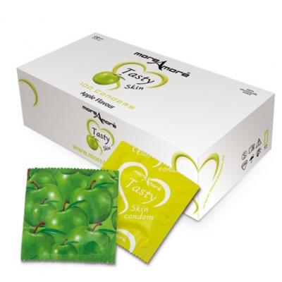 Image of moreamore - condoom tasty skin appel 100 st.
