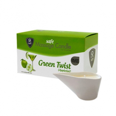 Safe Massage Kaars Green Twist 100gram