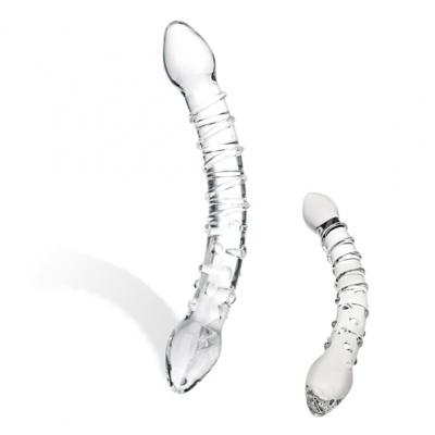 Image of glas - double trouble glazen dildo