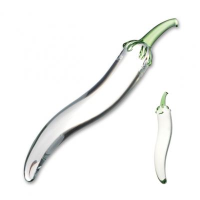 Image of glas - glazen naturals chili pepper glazen dildo