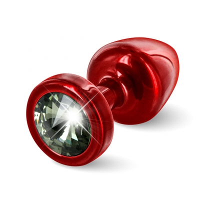 Diogol - Anni Butt Plug Rond Rood and Zwart 25 Mm