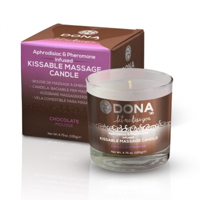 Image of dona - kissable massage kaars chocolade mousse 225