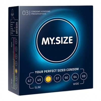 My Size - Natural Latex Condom 53 Width 3 St.