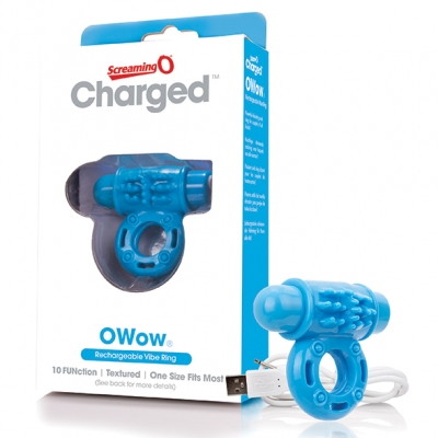 The Screaming O - Charged OWow Vibe Ring Blauw