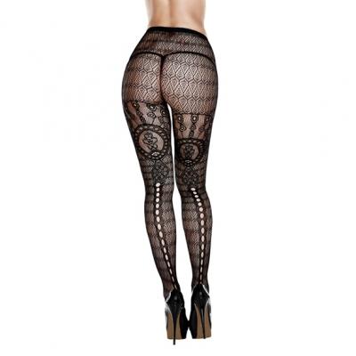 Image of baci - multi pattern jacquard pantyhose one size