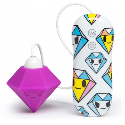 Image of tokidoki - silicone paars diamant clitorale vibrator