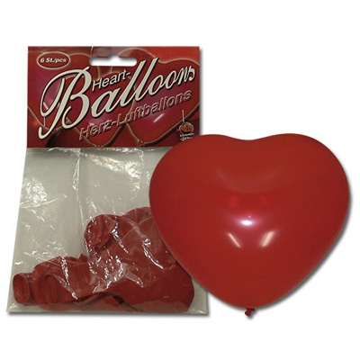 Hartvormige Ballonnen 6st.