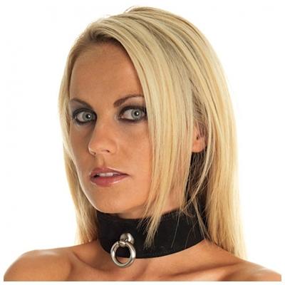 Rimba Halsband Met Ring - Zwart