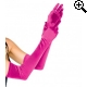 Leg Avenue Europe Extra Long Satin Gloves Fuchsia
