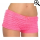 Leg Avenue Europe Lace Ruffle Tanga Short - Roze