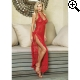 Leg Avenue Europe Long Dress With G-String Red - One Size