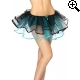 Leg Avenue Europe Ribbon Trimmed Tutu Black/blue - One Size