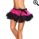Leg Avenue Europe Three Tier Petticoat Hotpink/black - One Size