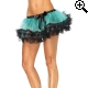 Leg Avenue Europe Three Tier Petticoat Turquoise/black - One Size